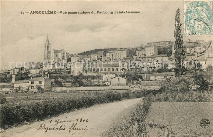 AK / Ansichtskarte Angouleme Vue panoramique du Faubourg Saint Ausonne Kat. Angouleme