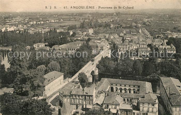 Angouleme Panorama de Saint Cybard Kat. Angouleme