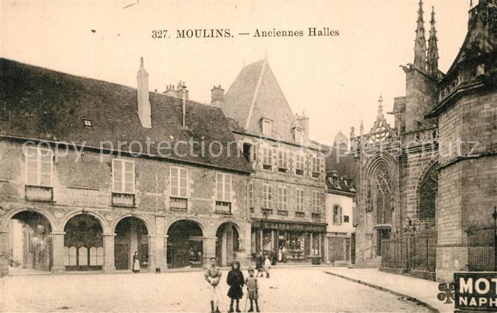 Moulins Allier Anciennes Halles Kat. Moulins