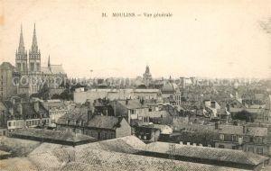 Moulins Allier Vue generale sur la ville Eglise Sacre Coeur Kat. Moulins