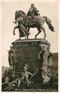 Berlin Denkmal Kaiser Wilhelms des Grosses Reiterstandbild Kat. Berlin