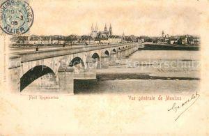 Moulins Allier Pont Regemortes sur l Allier vue generale Kat. Moulins