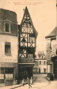 Moulins Allier Un coin du vieux Moulins Maison de bois du XV siecle Kat. Moulins