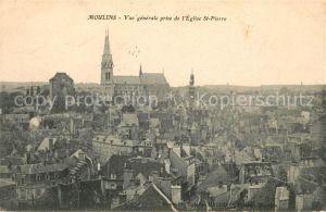 Moulins Allier Vue generale prise de l Eglise Saint Pierre Kat. Moulins