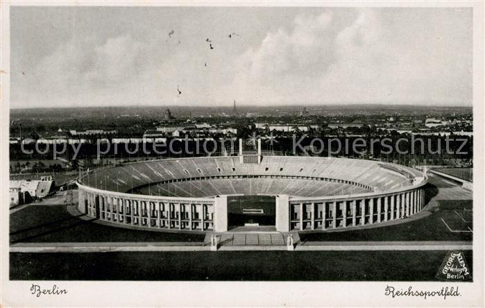 Berlin Reichssportfeld Fliegeraufnahme Kat. Berlin