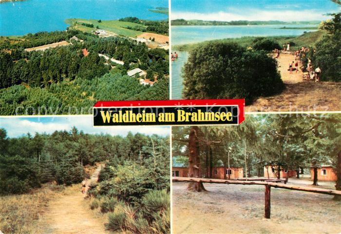 AK / Ansichtskarte Waldheim Brahmsee Fliegeraufnahme Seepartien Kat. Langwedel