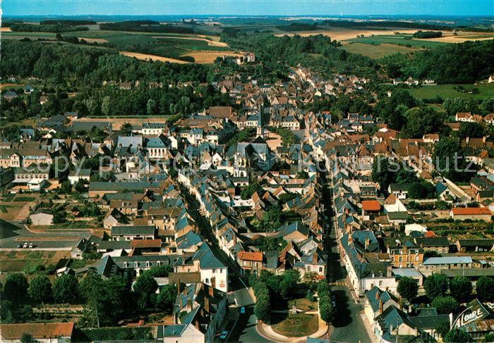 AK / Ansichtskarte Montoire sur le Loir Fliegeraufnahme Eglise Saint Laurent  Kat. Montoire sur le Loir