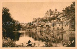 Uzerche Bords de la Vezere vieux chateau Kat. Uzerche