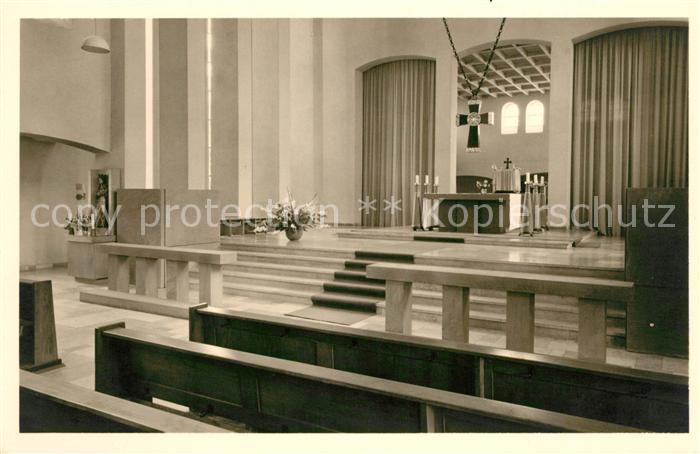 Detmold Kath Pfarrkirche Heilig Kreuz Innenansicht Kat. Detmold