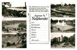 Essen Ruhr Baldeneysee Stauwehr Grugapark Dahlien Wasserspiele Aussichtsturm Reisebericht Kat. Essen