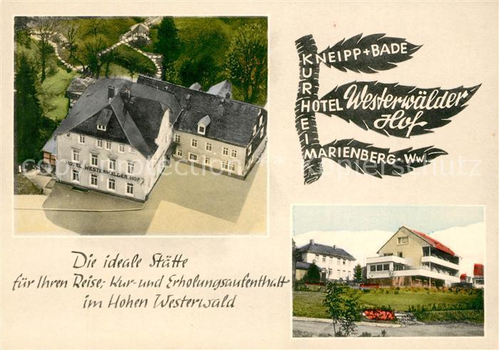 AK / Ansichtskarte Marienberg Westerwald Kurhotel Westerwaelder Hof  Kat. Bad Marienberg (Westerwald)