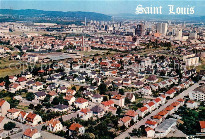 AK / Ansichtskarte Saint Louis Elsass Vue Aerienne Quartier Rue de la Liberte et la Couronne  Kat. Saint Louis