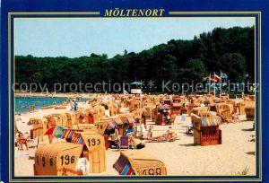 AK / Ansichtskarte Moeltenort Strand Strandkorb Kat. Heikendorf