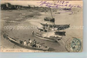 AK / Ansichtskarte Arcachon Gironde Boote am Strand Kat. Arcachon