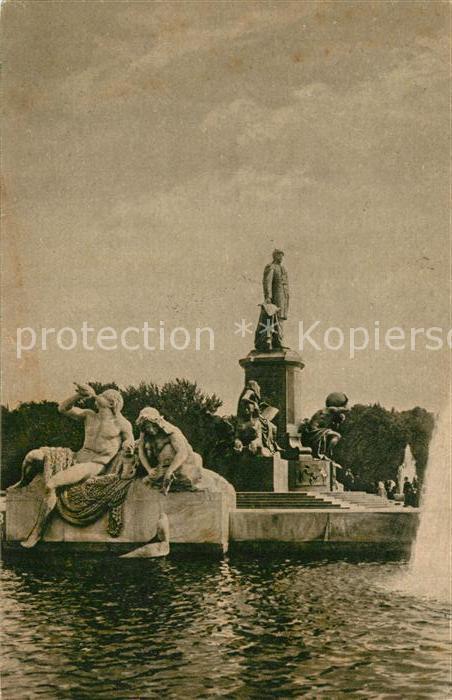 Berlin Bismarck Denkmal Statue Kat. Berlin