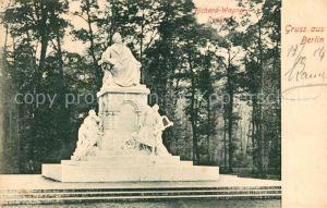 Berlin Richard Wagner Denkmal Statue Kat. Berlin