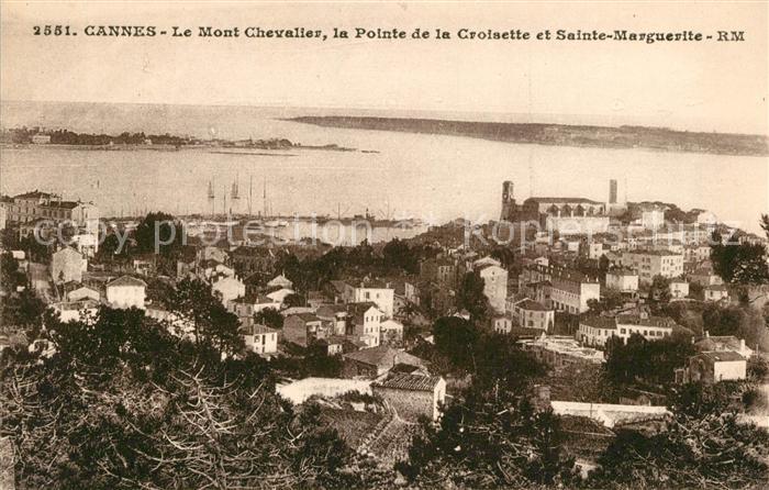 AK / Ansichtskarte Cannes Alpes Maritimes Mont Chevalier Pointe de la Croisette Sainte Marguerite Cote d Azur Kat. Cannes