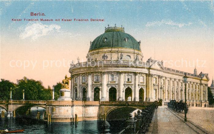 Berlin Kaiser Friedrich Museum mit Kaiser Friedrich Denkmal Kat. Berlin