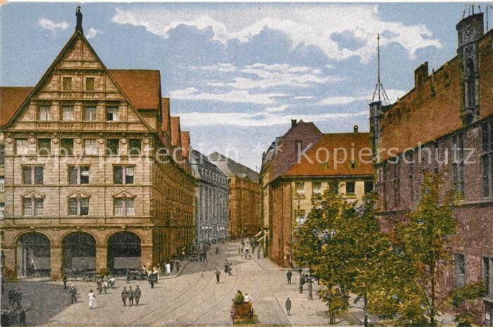 Koeln Rhein Stadthaus Guerzenich und Guerzenichstrasse Kat. Koeln
