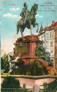 Coeln Rhein Denkmal Kaiser Wilhelm I auf dem Kaiser Wilhelm Ring Kat. Koeln