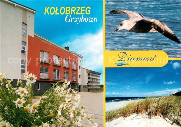 AK / Ansichtskarte Kolobrzeg Polen Hotel Diamant Moeve Strand Kat. Kolberg Pommern