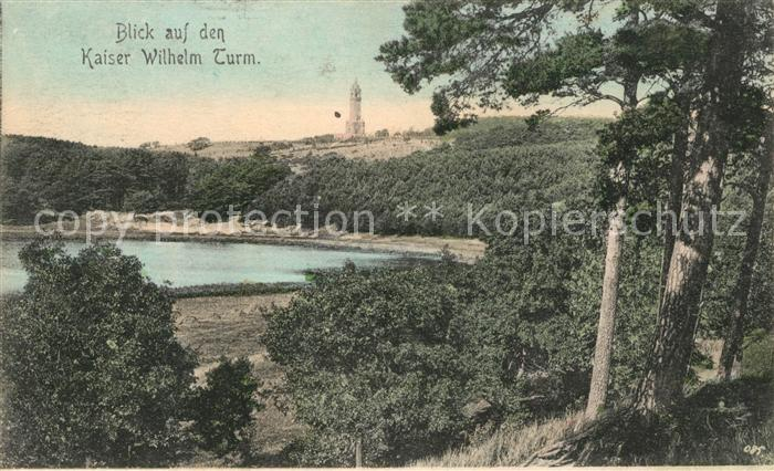 AK / Ansichtskarte Grunewald Berlin Landschaftspanorama See Kaiser Wilhelm Turm Kat. Berlin