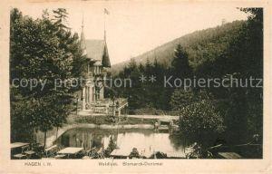 AK / Ansichtskarte Hagen Westfalen Waldlust Bismark Denkmal Kat. Hagen