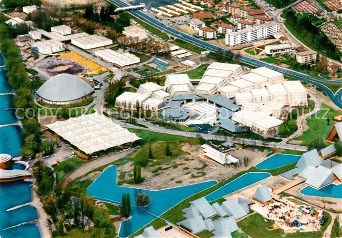 AK / Ansichtskarte Lausanne VD Fliegeraufnahme Schweizer Landesausstellung Kat. Lausanne
