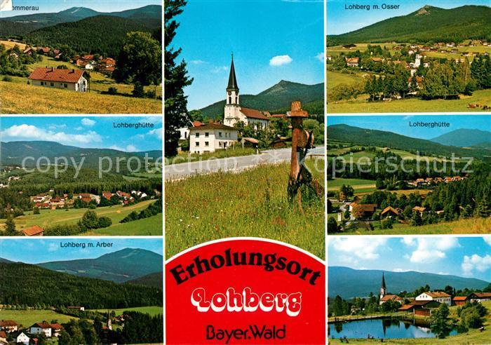 AK / Ansichtskarte Lohberg Lam Sommerau Osser Lohberghuette Arber Kirche Kat. Lohberg