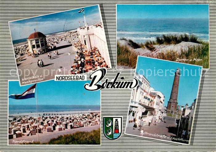 AK / Ansichtskarte Borkum Nordseebad Wandelhalle Musikpavillon Duenen Meer Nordstrand Leuchtturm Kat. Borkum
