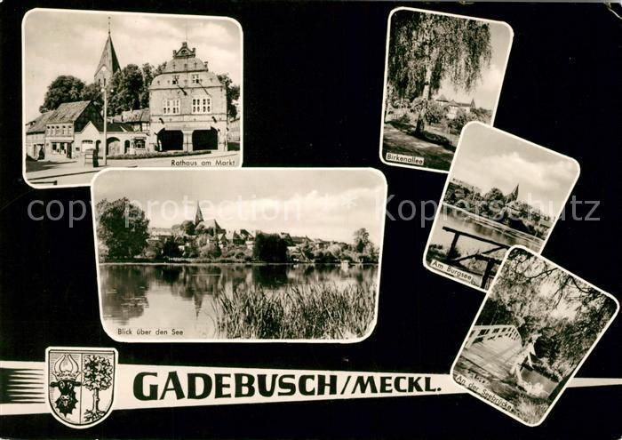 AK / Ansichtskarte Gadebusch Rathaus Seebruecke Birkenallee Kat. Gadebusch