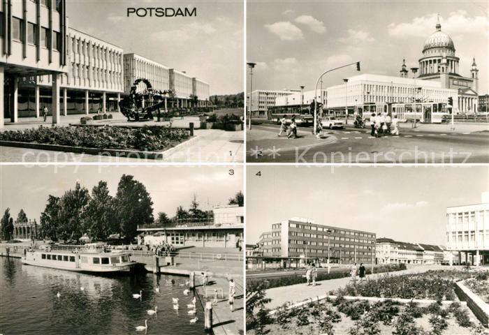 AK / Ansichtskarte Potsdam Friedrich Ebert Strasse Platz der Einheit Anlegestelle Weisse Flotte  Kat. Potsdam