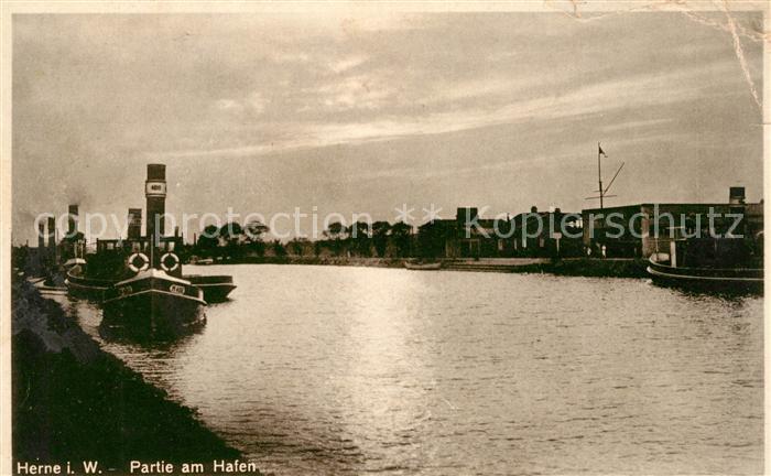 AK / Ansichtskarte Herne Westfalen Partie am Hafen Rhein Herne Kanal Kat. Herne