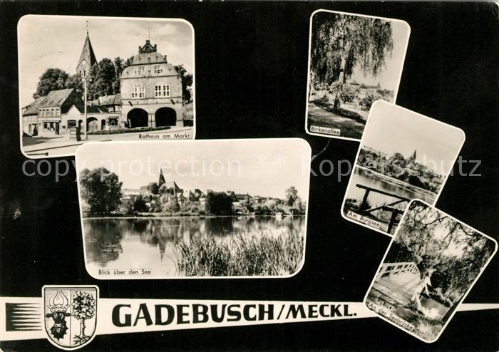 AK / Ansichtskarte Gadebusch Rathaus Markt Burgsee  Kat. Gadebusch