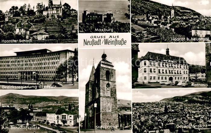 AK / Ansichtskarte Neustadt Weinstrasse Haardter Schloss Bezirksregierung der Pfalz Stiftskirche Kat. Neustadt an der Weinstr.
