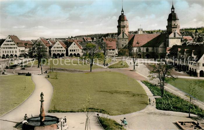 AK / Ansichtskarte Freudenstadt Marktplatz mit Kirche Kat. Freudenstadt