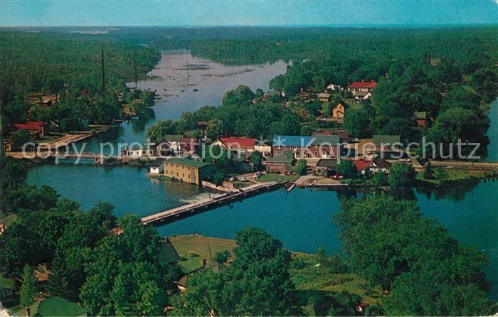 AK / Ansichtskarte Coboconk Village in the beautiful Northern Kawarthas aerial view Kat. Coboconk