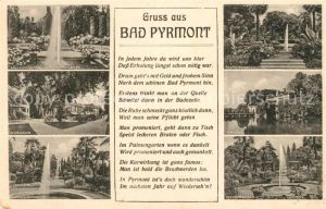 AK / Ansichtskarte Bad Pyrmont Palmengarten Kurhaus Fontaine Schloss Kat. Bad Pyrmont
