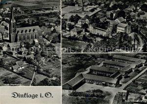 AK / Ansichtskarte Dinklage Kath Pfarrkirche Teilansicht Kath Volksschule Kat. Dinklage