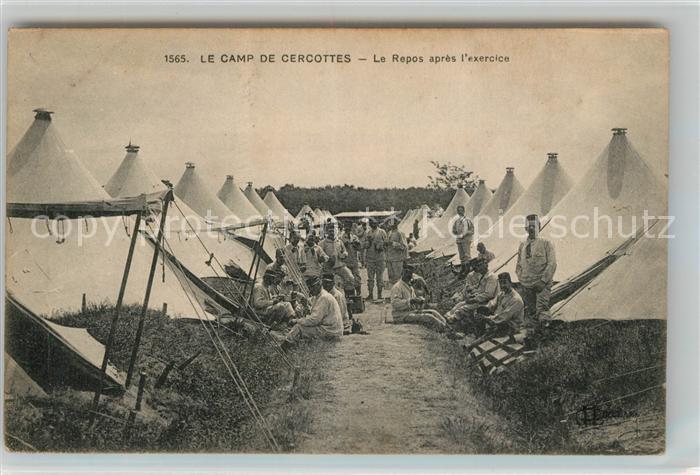 AK / Ansichtskarte Cercottes Le Camp Le Repos apres l exercice Kat. Cercottes