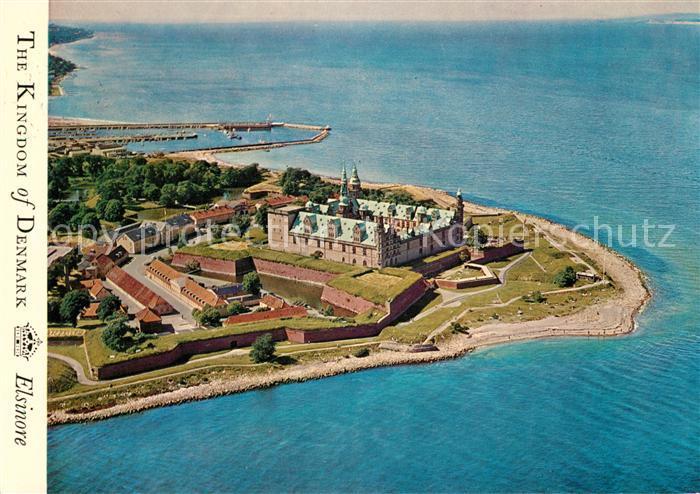 AK / Ansichtskarte Kronborg Slot Fliegeraufnahme Schloss Kat. Daenemark