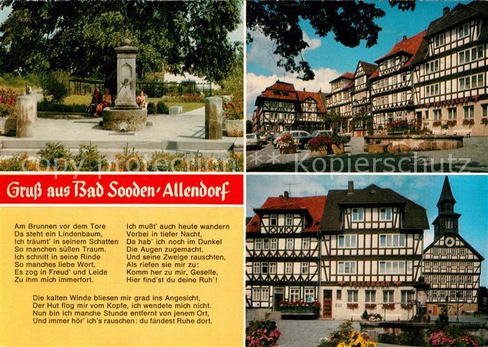 AK / Ansichtskarte Sooden Allendorf Bad Fachwerk Zimmersbrunnen Kat. Bad Sooden Allendorf