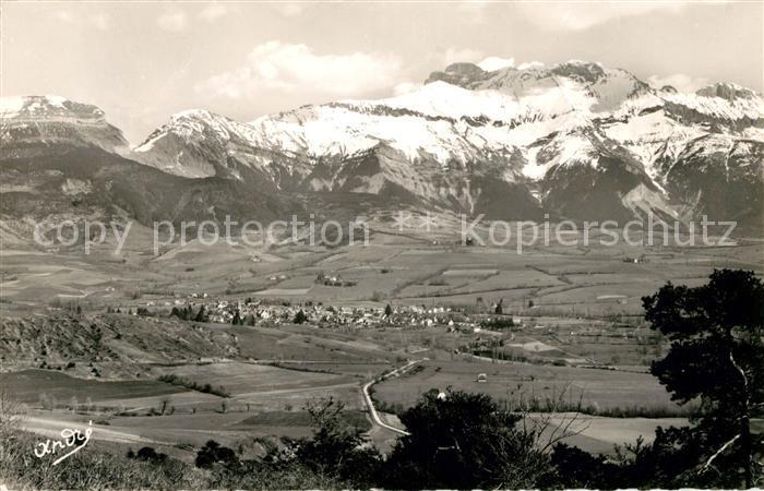 AK / Ansichtskarte Mens Vue generale Le Chatel et l Obiou Alpes Kat. Mens