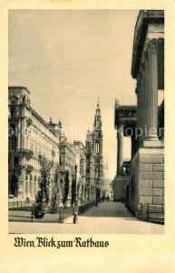 AK / Ansichtskarte Wien Blick zum Rathaus Kat. Wien