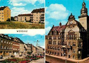 AK / Ansichtskarte Werdau Sachsen Marktplatz Rathaus Kat. Werdau