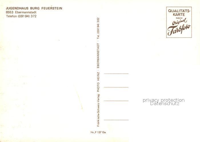AK / Ansichtskarte Ebermannstadt Jugendhaus Burg Feuerstein Kat. Ebermannstadt 1
