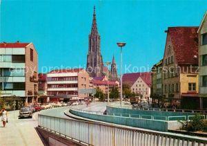 AK / Ansichtskarte Ulm Donau Neue Strasse mit Blick auf das Muenster Kat. Ulm
