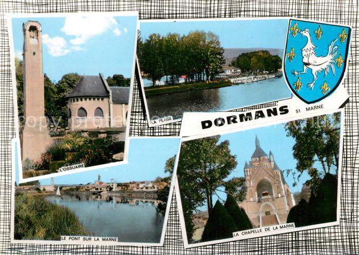 AK / Ansichtskarte Dormans Ossuaire Plage Pont sur la Marne Chapelle de la Marne Kat. Dormans