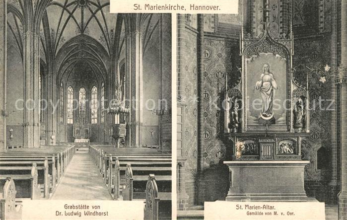 AK / Ansichtskarte Hannover St Marienkirche Inneres St Marien Altar Kat. Hannover
