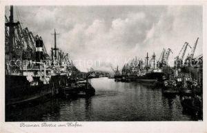 AK / Ansichtskarte Bremen Partie am Hafen Kat. Bremen